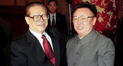 Source - WashingtonPost. Then-Chinese President Jiang Zemin with then-North Korean leader Kim Jong Il in 2001. Not much has changed. (AFP/Getty Images)