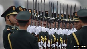 China's increased military spend has worried many of its neighbours. Source - Reuters
